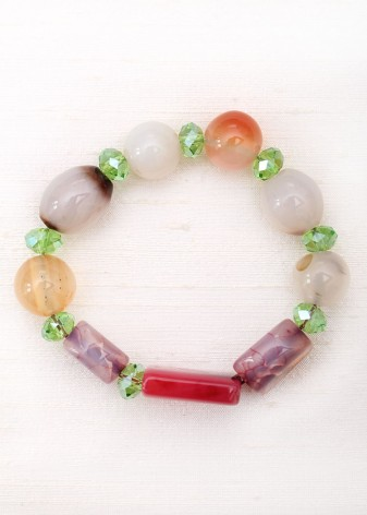 Colourful Irregular Beaded Bracelet