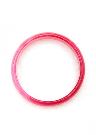 Pink Faceted Bangle Bracelet