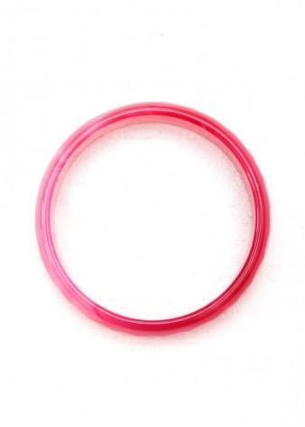 Pink Faceted Bangle Bracelet
