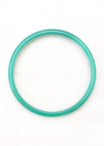 Sea Green Thin Agate Bangle Bracelet
