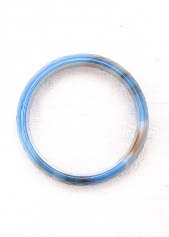 Blue Semi-Precious Faceted Bangle