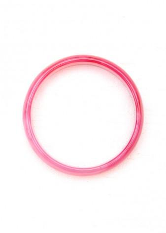 Pink Crazy Agate Bangle Bracelet