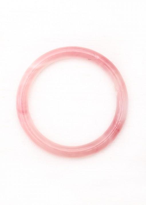 Pale Pink Faceted Bangle Bracelet