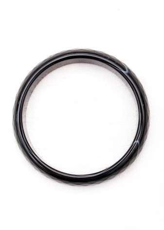 Chunky Black Bangle Bracelet