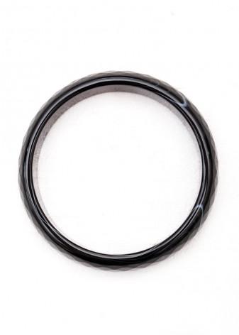 Chunky Black Bangle Bracelet