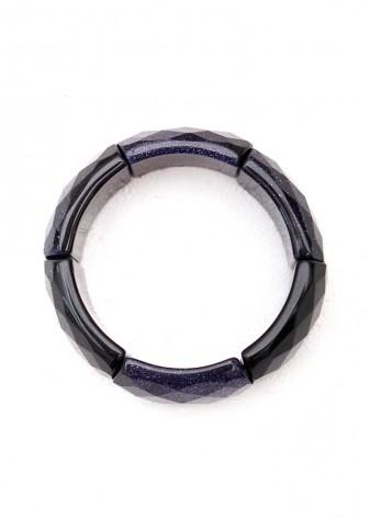 Blue Goldstone Chunky Bracelet