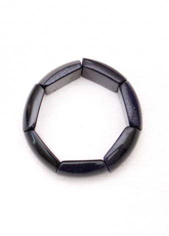 Blue Sandstone Chunky Bracelet