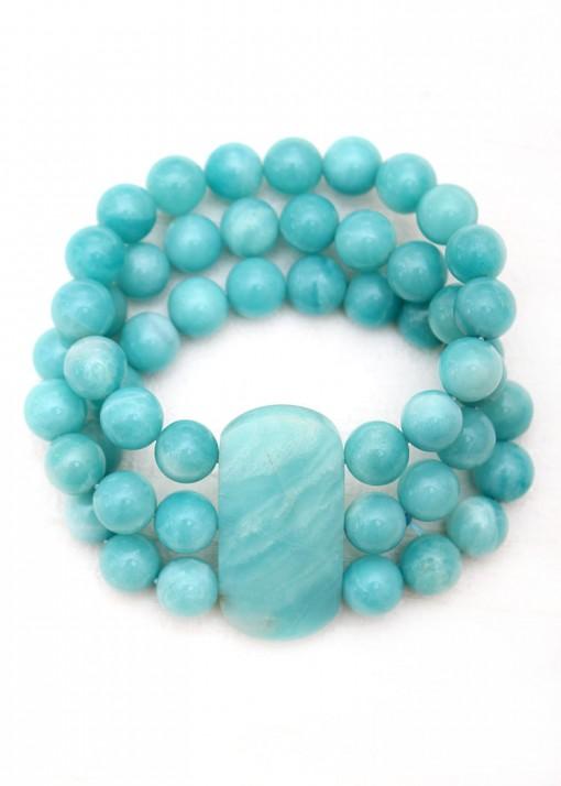 Chunky Blue Agate Bracelet