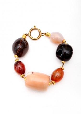 Coral Chunky Bracelet