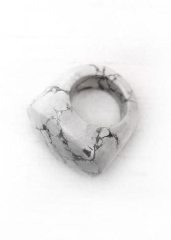 White Howlite Chunky Ring