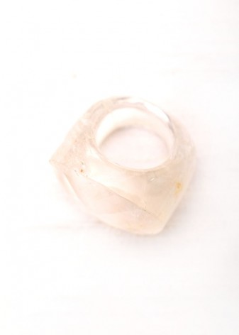 Clear Crystal Chunky Bubble Ring