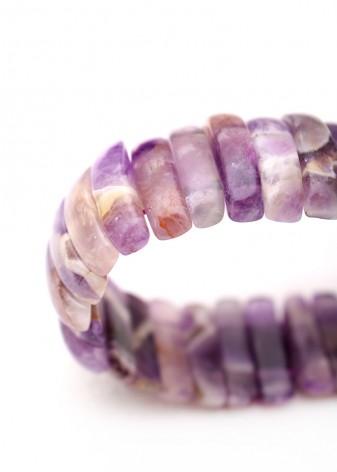 Chunky Amethyst Stone Bracelet