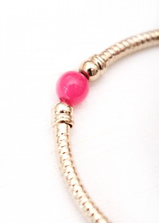 Agate Fuchsia Bracelet