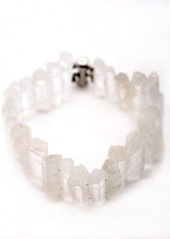 Clear Crystal Quartz Bracelet