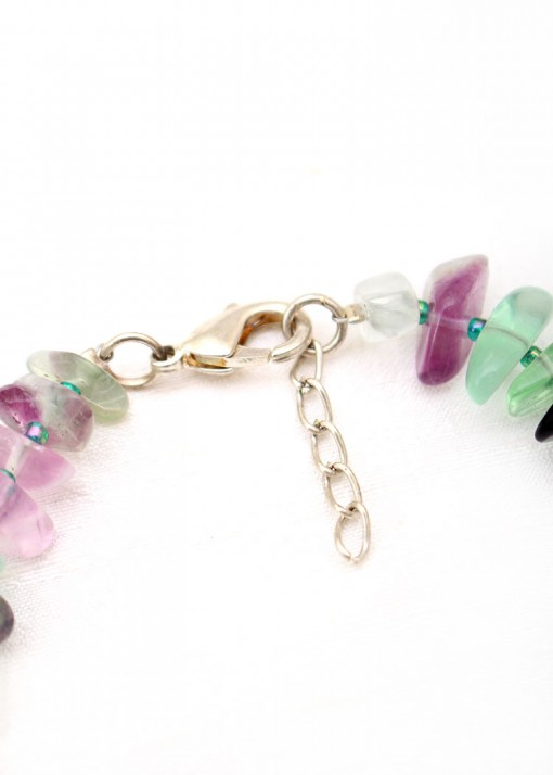 Green Agate And Amethyst Bracelet