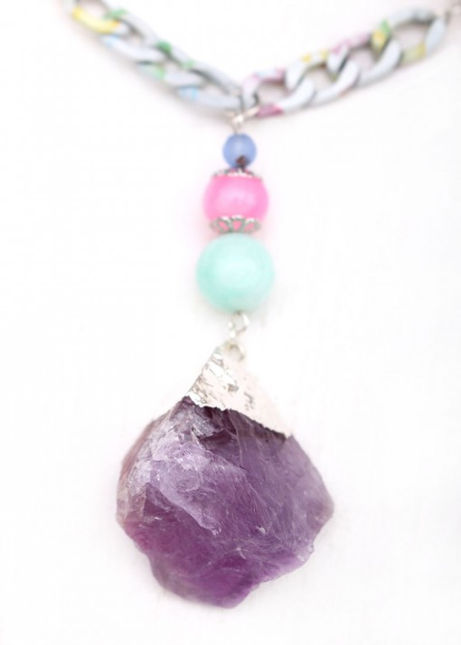 Chunky Sugar Lumps Pendant Necklace