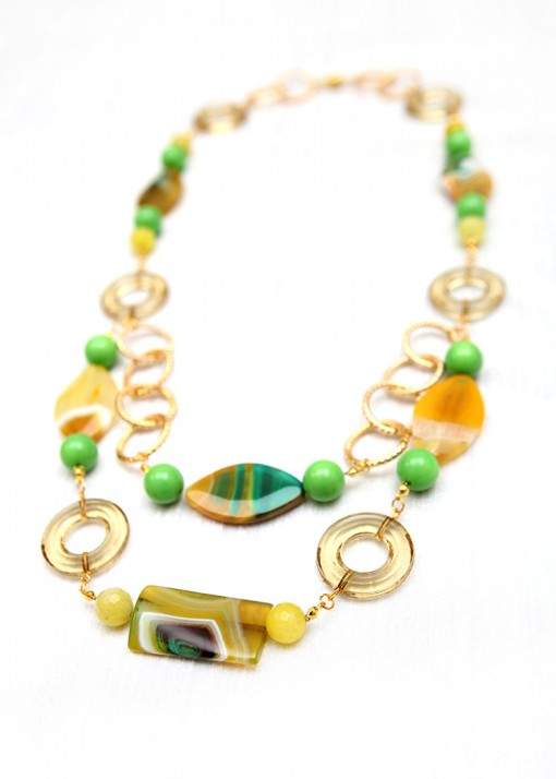 Chunky Green Amazonian Necklace