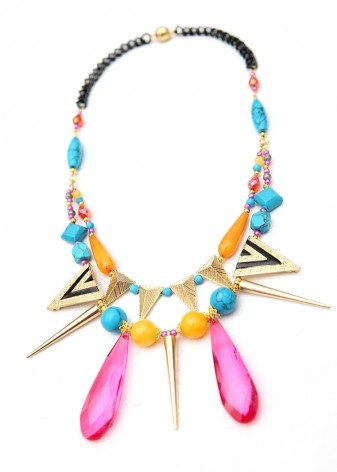 Bold Statement Turquoise Necklace