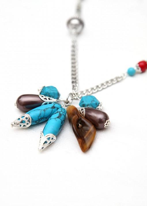 Boho Dazzle Cluster Pendant Necklace