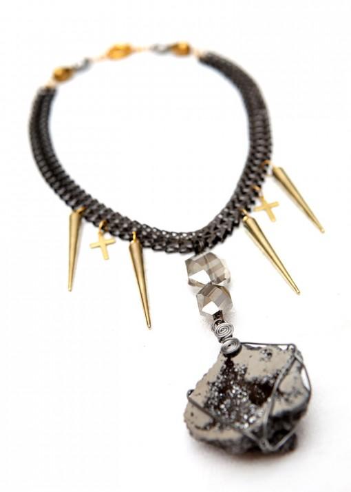 Chunky Pendant Rock Goddess Statement Necklace