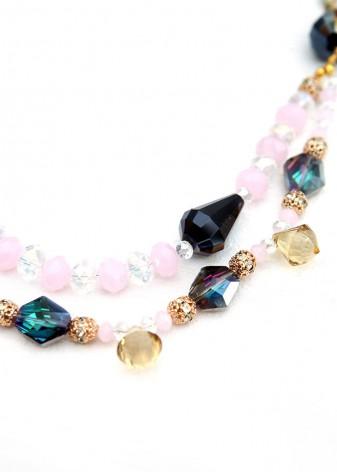 Beaded Crystal Mermaid Necklace