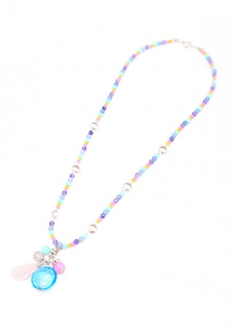 Rainbow Dust Cluster Necklace