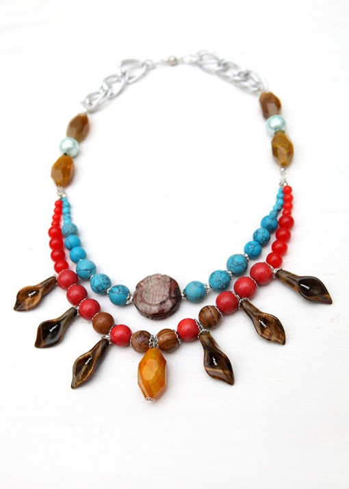 Smooth Stone Statement Necklace