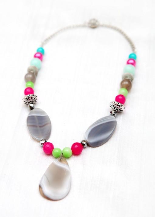 Bubblegum Beaded Necklace