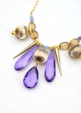 Purple and Gold Fashion Necklace