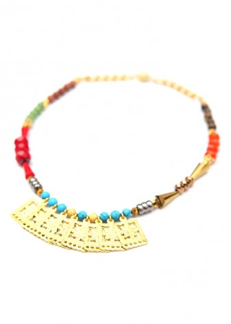 Aztec Perfection Beaded Collar Necklace