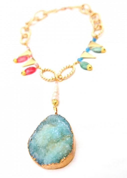Pendant Druzy Reef Necklace