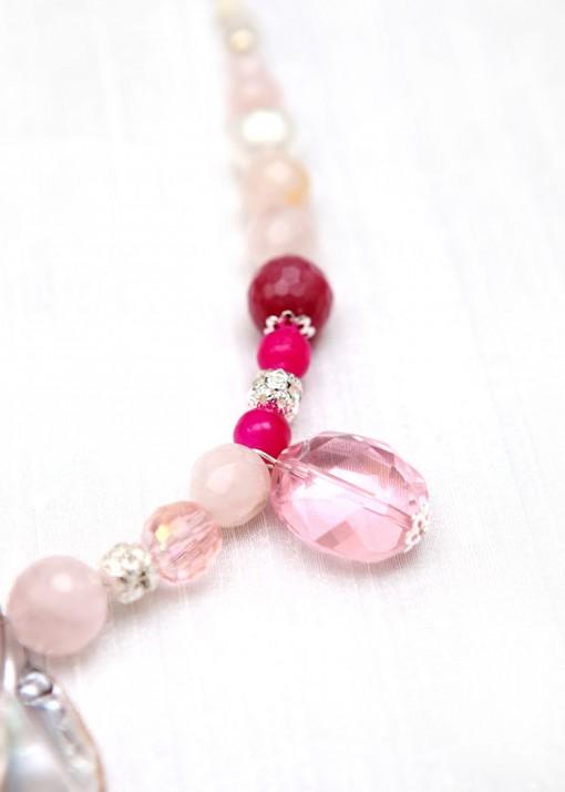 Rose Petal Pendant Necklace