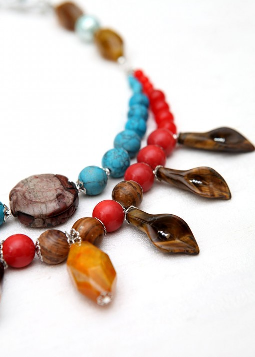 Statement Smooth Stone Necklace