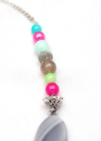 Beaded Bubblegum Necklace