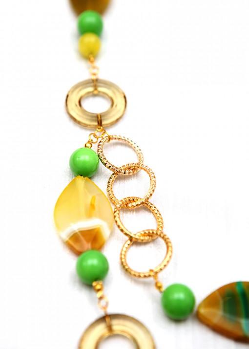 Amazonian Green Chunky Necklace