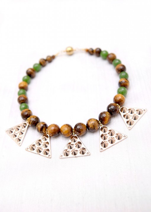 Beaded Aztec Beau Necklace