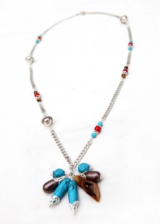 Pendant Cluster Boho Dazzle Necklace