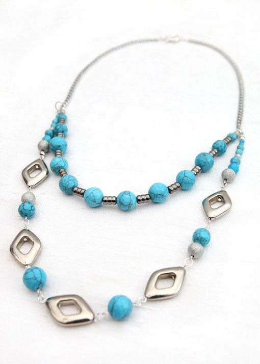 Turquoise Festival Chic Necklace