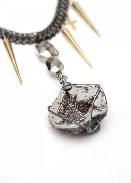 Statement Rock Goddess Chunky Pendant Necklace