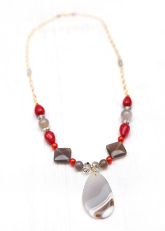 Maple Mist Beaded Necklace