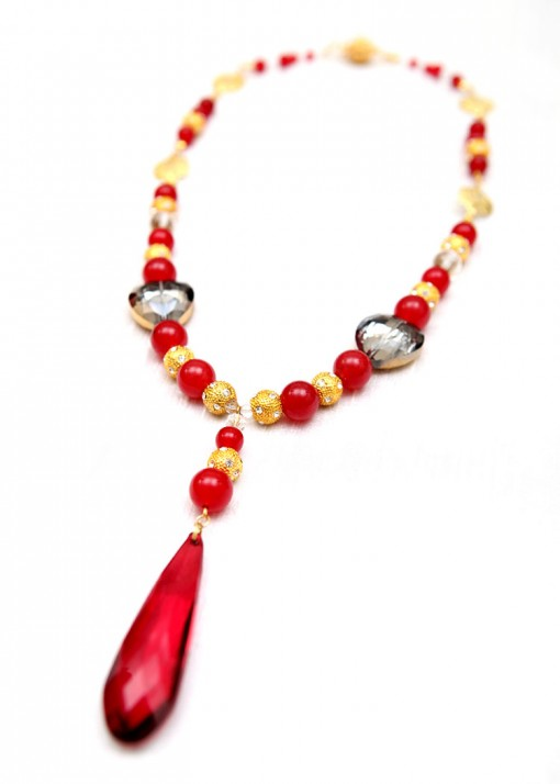 Red Satine Rouge Pendant Necklace
