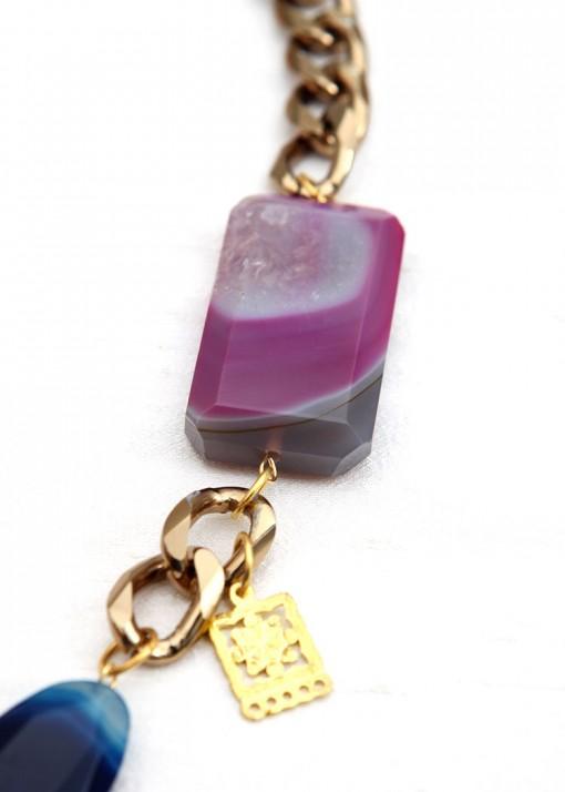 Subtle Purple and Blue Pendant Necklace