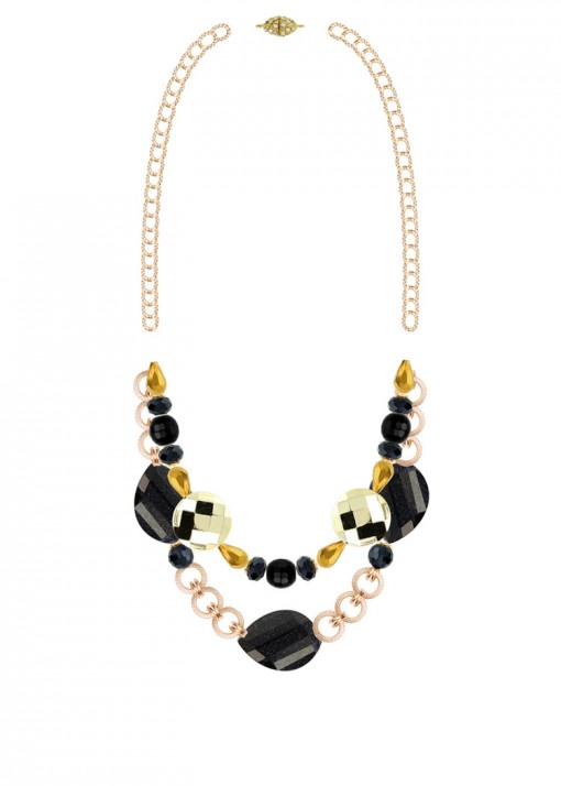 Rhythm of the Night Statement Necklace