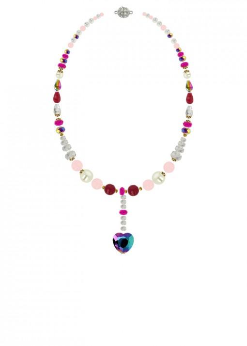 Iridescent Embrace Heart Pendant Necklace