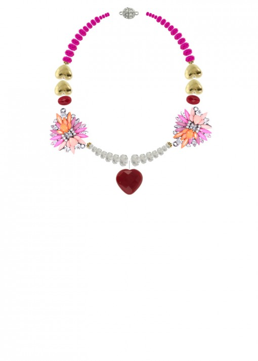 Bold Heartful Statement Necklace