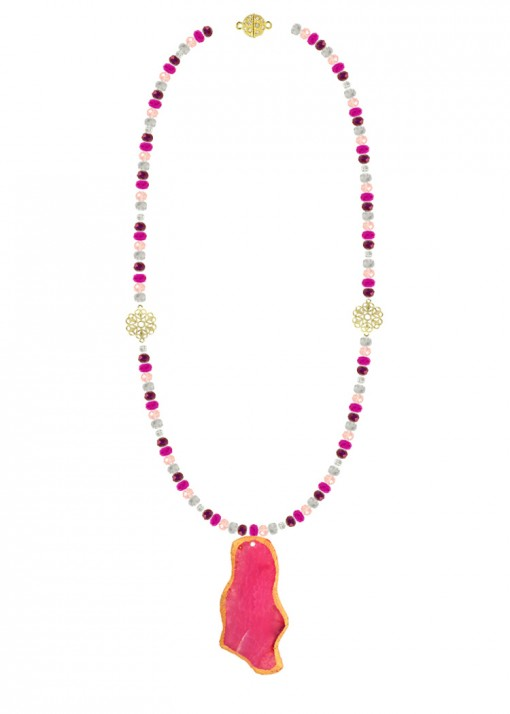 Fuchsia Passion Pendant Necklace