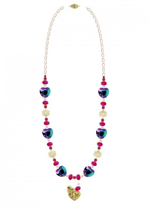 True Love Iridescent Beaded Cluster Necklace