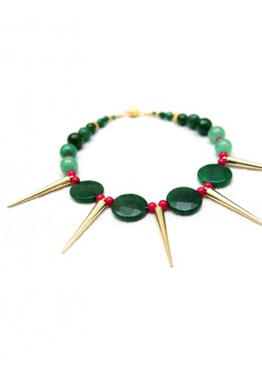 Spike Spear Burst Collar Necklace