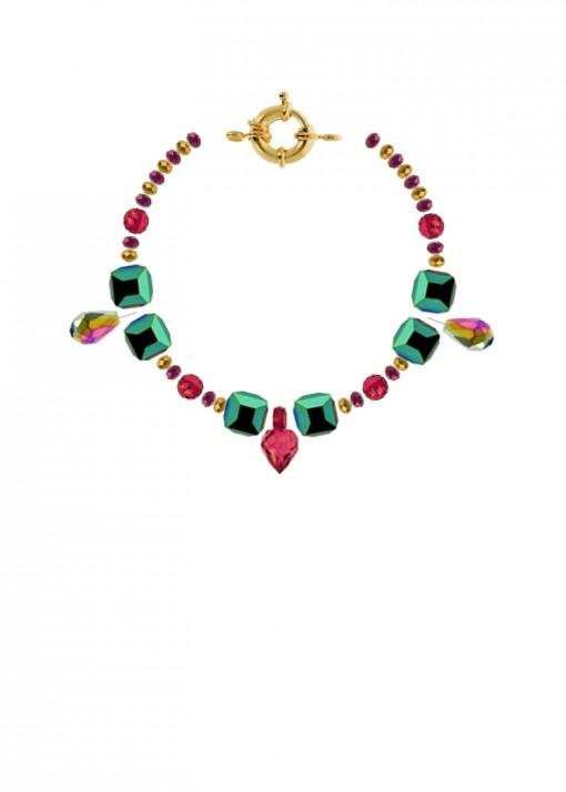 Iridescent Aura Charm Bracelet