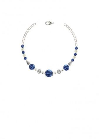 Metallic Azure Quartz Bracelet